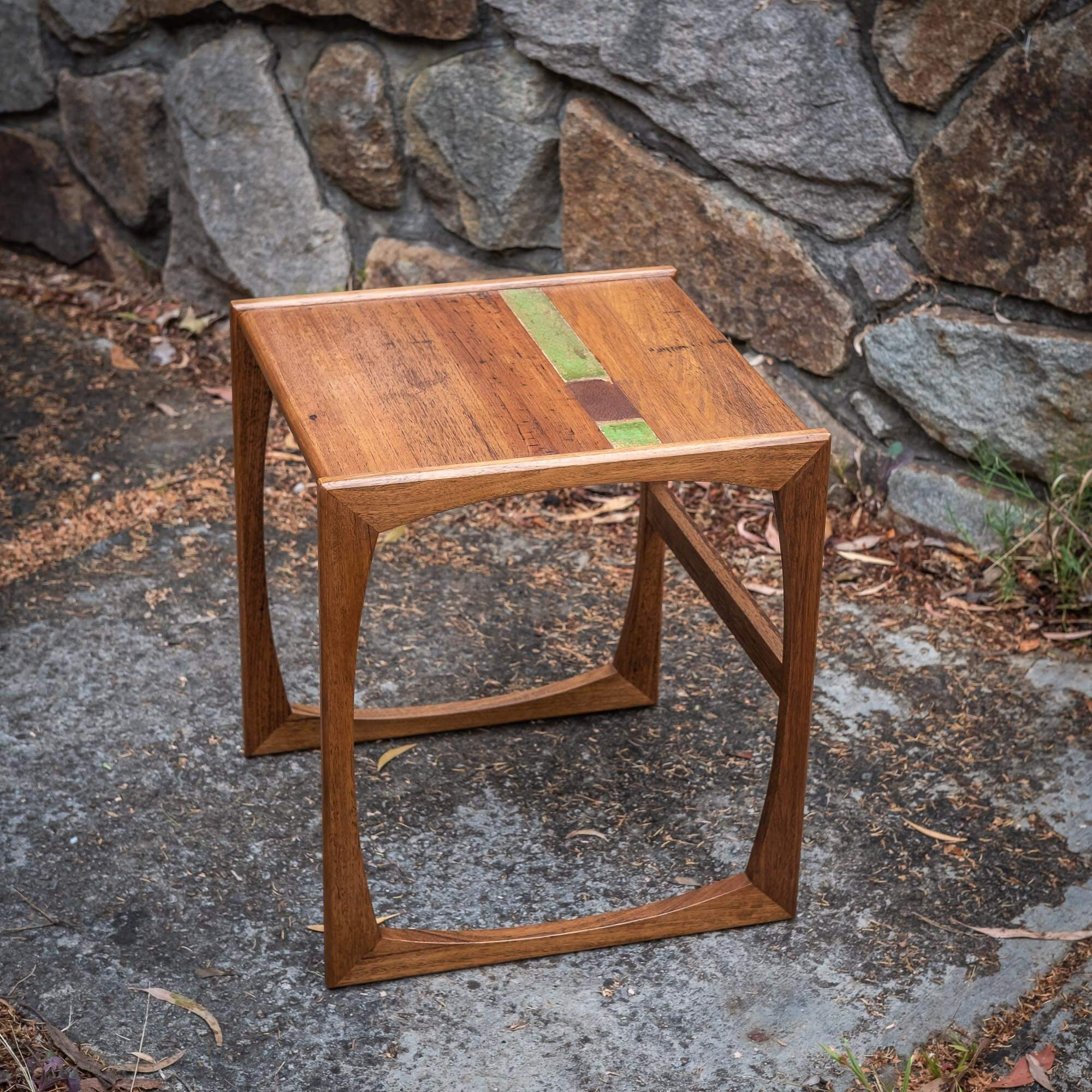 Coffee Table MidCentury Recycled Timber