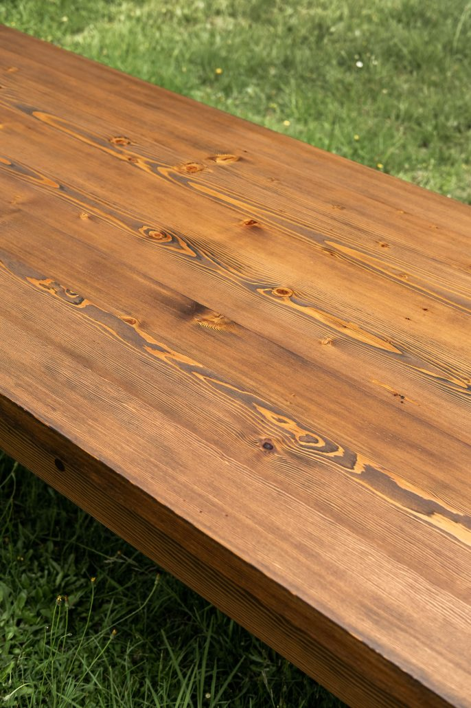 Dining Table Industrial Recycled Timber
